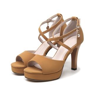 [Mã FASHIONGREEN94 giảm tới 30K đơn 99K] Giày cao gót quai đan chéo nhỏ - CG51 thumbnail