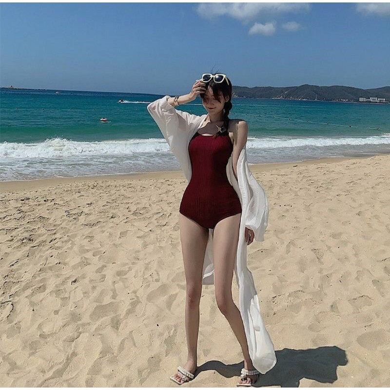 [GIÁ HỦY DIỆT] Bikini một mảnh đỏ đô