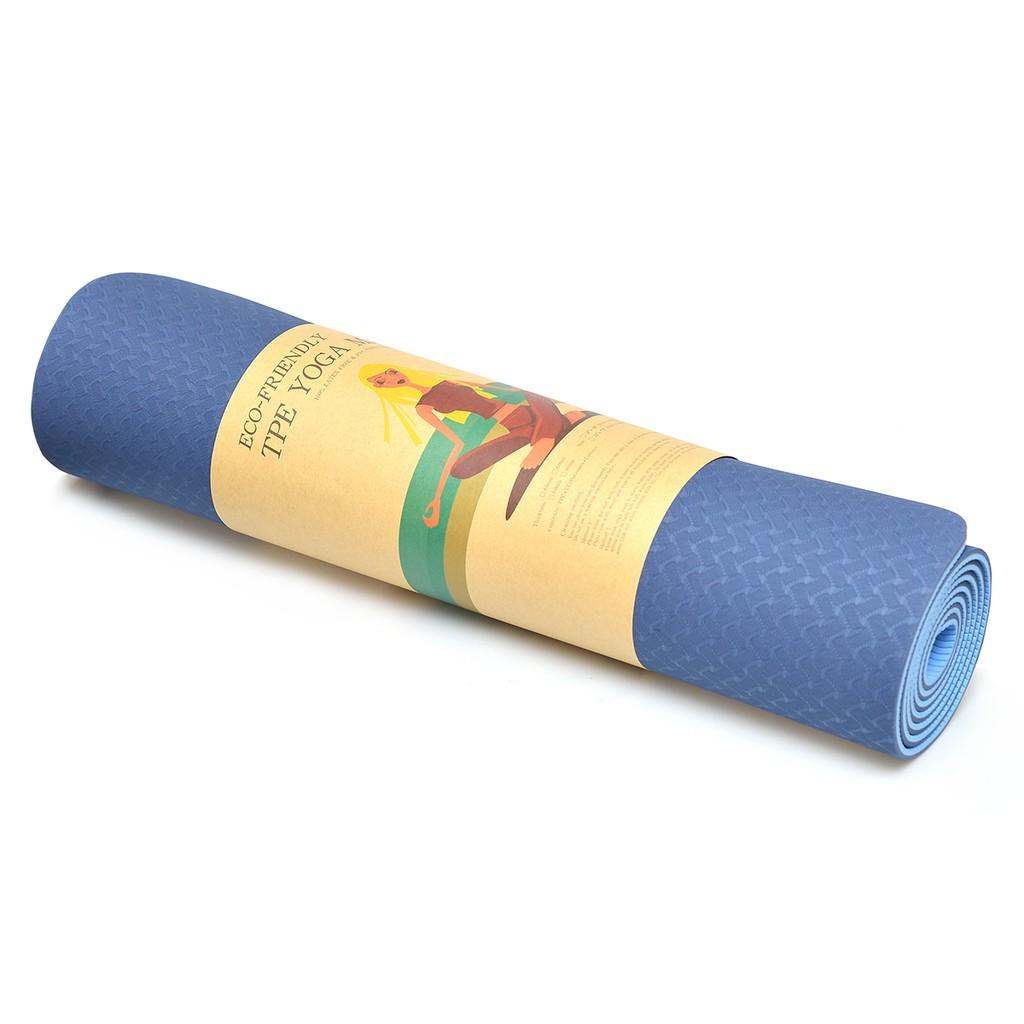 Thảm Tập Yoga 2 Lớp Loại Dầy Kèm Túi Đựng