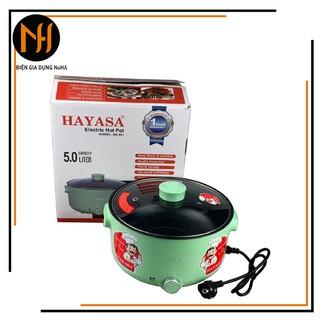Nồi Lẩu Điện 5L Hayasa Ha-691 Đa Năng Chống Dính Công Suất 1300W Nấu Lẩu,Nấu Mì,Chiên,Xào,Nấu Thức Ăn