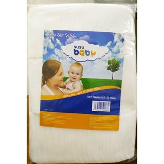 Khăn khô Susu Baby vải không dệt Malaysia (300 tờ/túi zip)