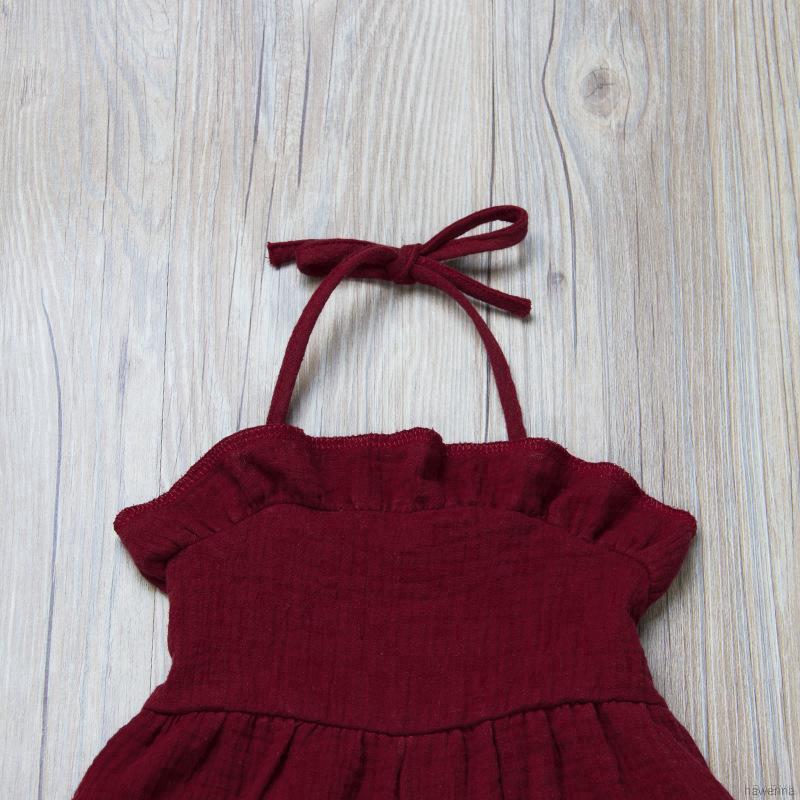 Áo liền quần viền lá sen xinh xắn phong cách Hàn Quốc cho bé gái