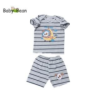 Bộ Đồ Thun Cotton Tay Ngắn Quần Ngắn BÉ TRAI HÌNH NGẪU NHIÊN (6kg-12kg) BabyBean thumbnail