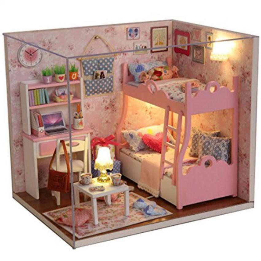 Ghép hình gỗ căn phòng 3D cho bé gái xinh xắn