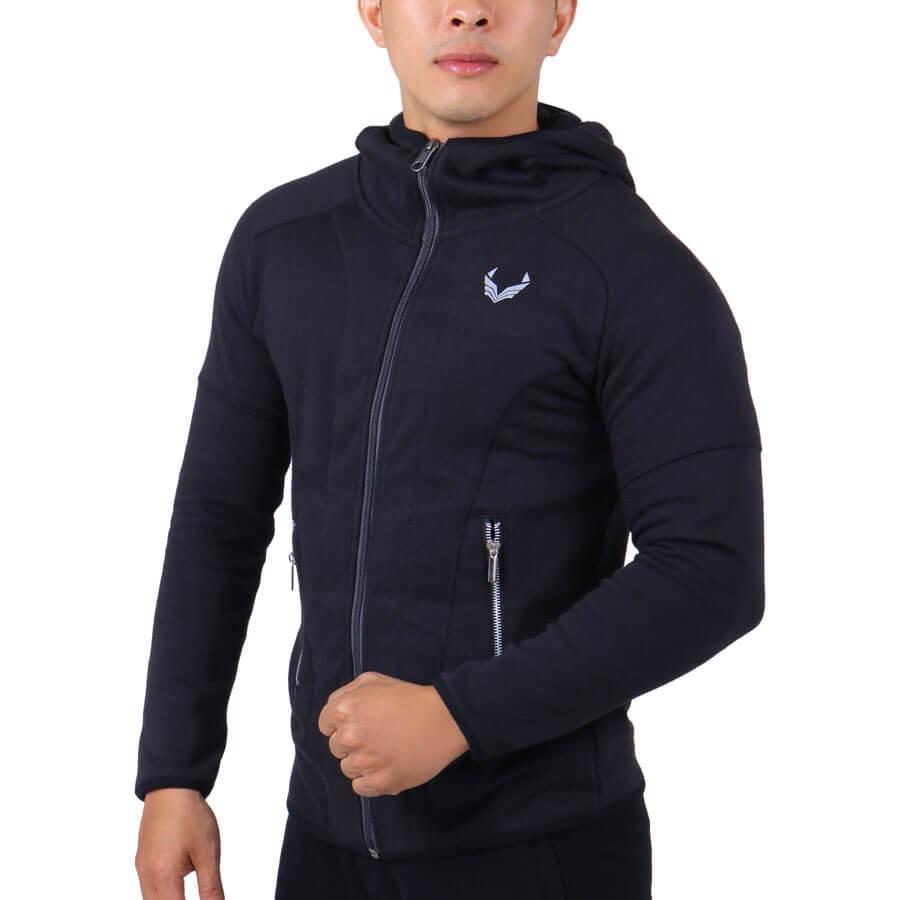 Áo khoác thể thao nam tay dài Unique Apparel vải xược phối nón - Thời Trang Havis - AKTD - Áo khoác nhẹ