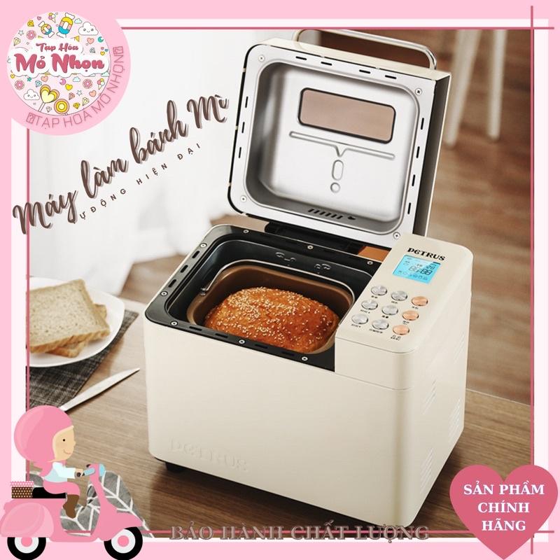 Máy làm bánh mì tự động 3 trong 1 Petrus PE8855 , PE8860 máy nhồi, ủ, nướng bánh mì