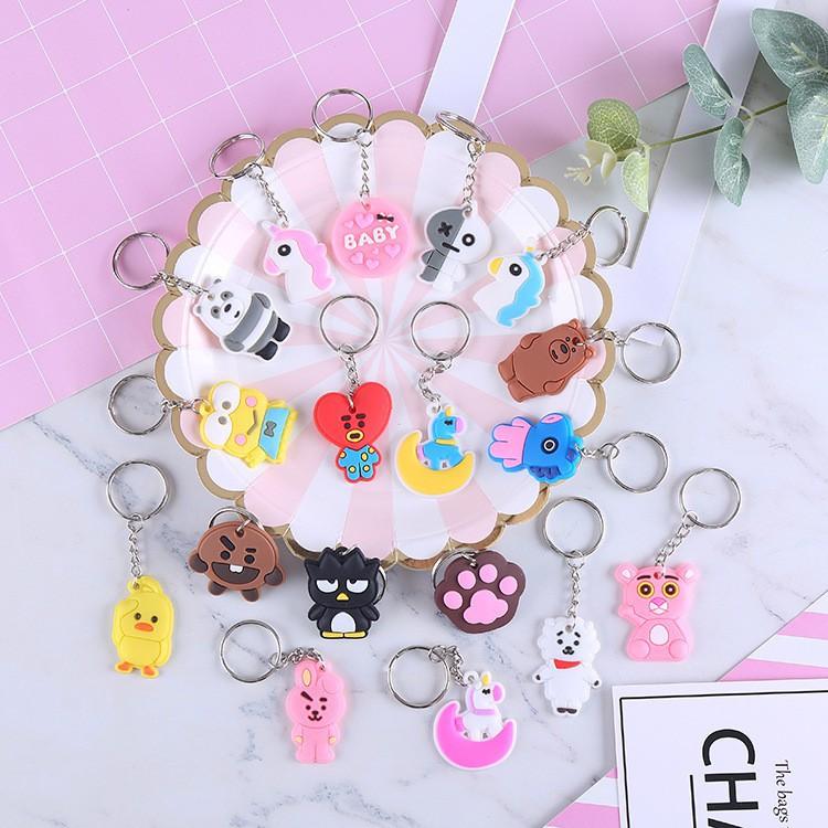 Móc Khóa Cute Hoạt Hình Ngộ Nghĩnh Gửi Mẫu Ngẫu Nhiên - Móc Treo chìa khóa, móc đeo chìa khóa Mini