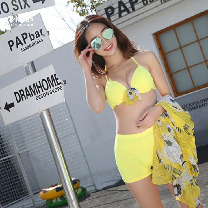 Bikini 2 mảnh kèm váy thời trang M L XL