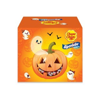 Hình ảnh [Mã GRO1PVM14 giảm 10% đơn 150K] Kẹo Chupa Chups Alpenliebe Halloween (Phiên Bản Hộp Bí Ngô) 460g/hộp-3