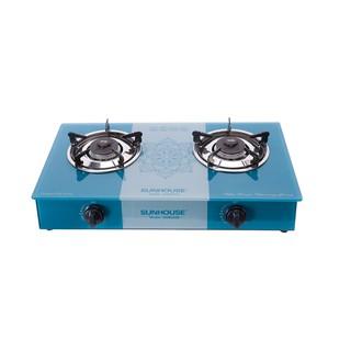 Bếp gas đôi dương kính Sunhouse SHB3336 (mặt kính an toàn tiết kiệm gas bảo hành chính hãng)