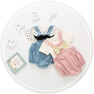 Set áo và yếm cho bé gái thumbnail