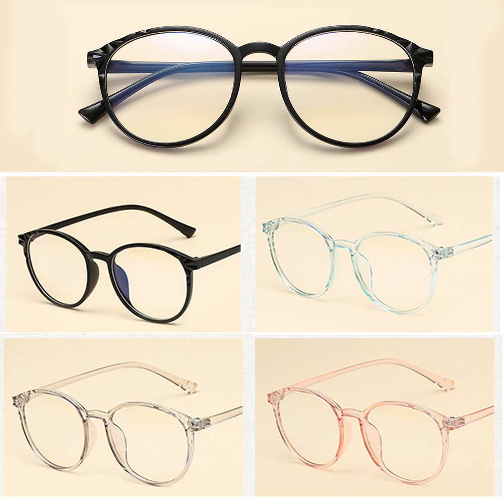 🎈FUTURE🎈 Clear Lens Reduces Eye Strain Transparent Round Frame Ultralight High-definition Optical Eye Glasses