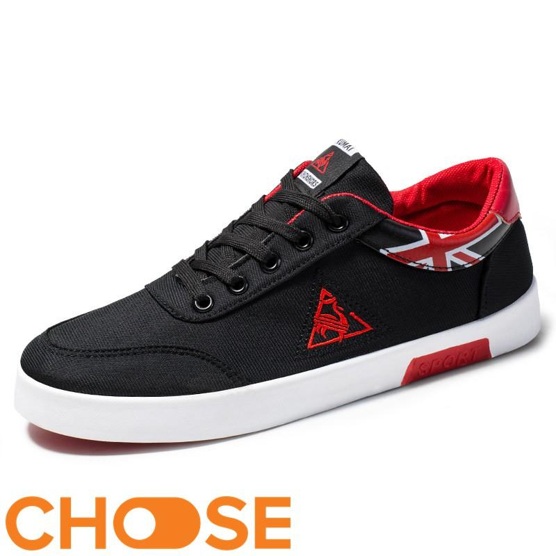 (XẢ KHO HÀNG TỒN) Giày Nam Choose Giày Lười Nam Thể Thao Giá Rẻ /Sneaker Họa Tiết Tam Giác GK6K1