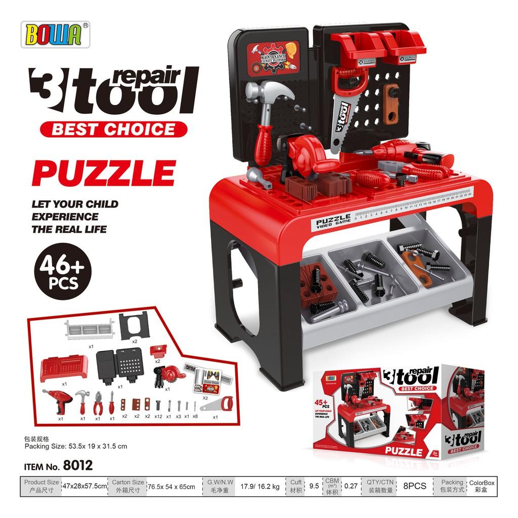 Bộ đồ chơi nhập vai BOWA 8012 - Bộ công cụ 46 chi tiết