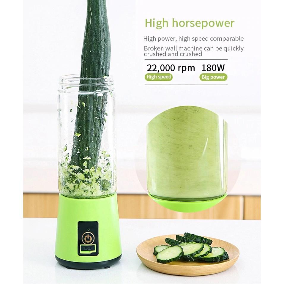 Máy xay sinh tố cầm tay cup 38 mini dạng cốc say ép hoa quả trái cây đa năng sạc pin usb tích điện tiện lợi