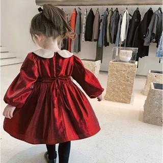 Đầm Nhung Kiểu Công Chúa Dành Cho Bé Gái Phong Cách Thời Trang Hàn Quốc