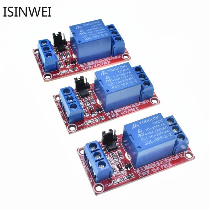 Mô đun rơ le bán dẫn 1 kênh 5V/12V/24V với phần tử cách ly quang mức cao/thấp cho Arduino