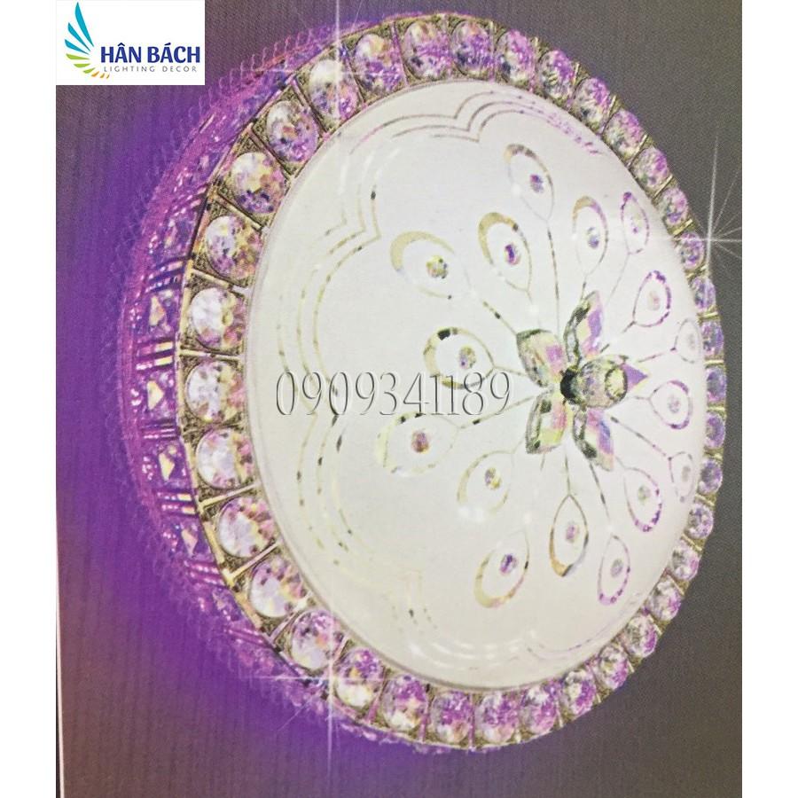 đèn mâm led gắn trần - đèn ốp trần led - Đèn mâm led GIÁ RẺ 3 chế độ ánh sáng