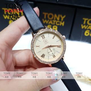 Đồng hồ nữ Guou mặt tròn dây da chính hãng chống nước Winsley