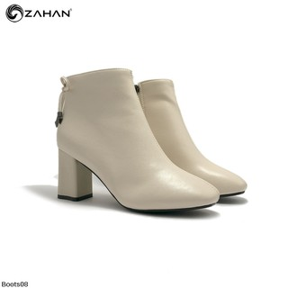 Boots nữ, 7cm, mũi vuông, nơ gót Boots08