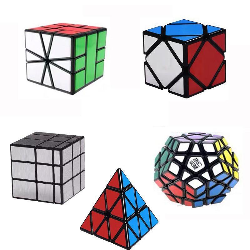Bộ Sưu Tập Rubik 2x2, 3x3, 4x4, 5x5, Megaminx, Pyraminx, Mirror, Skewb, Square-1 - Rubik Viền Đen Sticker Cao Cấp