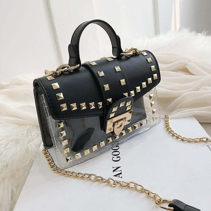 High-end bag handbags new 2019 foreign gas rivet portable sm