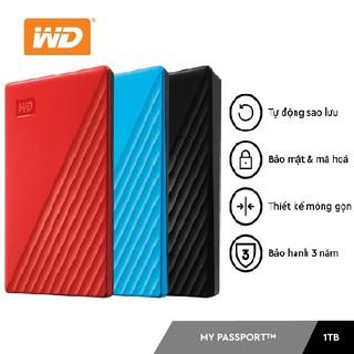 Ổ Cứng Di Động WD My Passport 1TB USB 3.2 (Màu Ngẫu Nhiên)