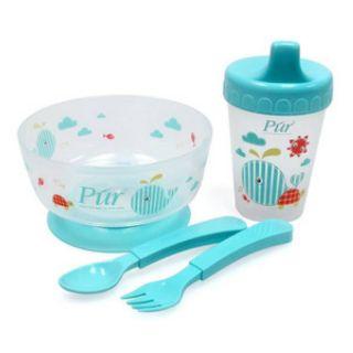 Bát, thìa, yếm ăn dặmBát – đĩa ăn dặm cho bé BỘ BÁT, CỐC, THÌA, DĨA TẬP ĂN PUR PUR5910 300ml