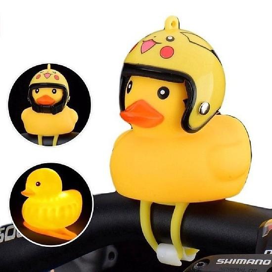 Vịt vàng đội mũ bảo hiểm – Vịt phát sáng đáng yêu – Vịt caosu treo xe