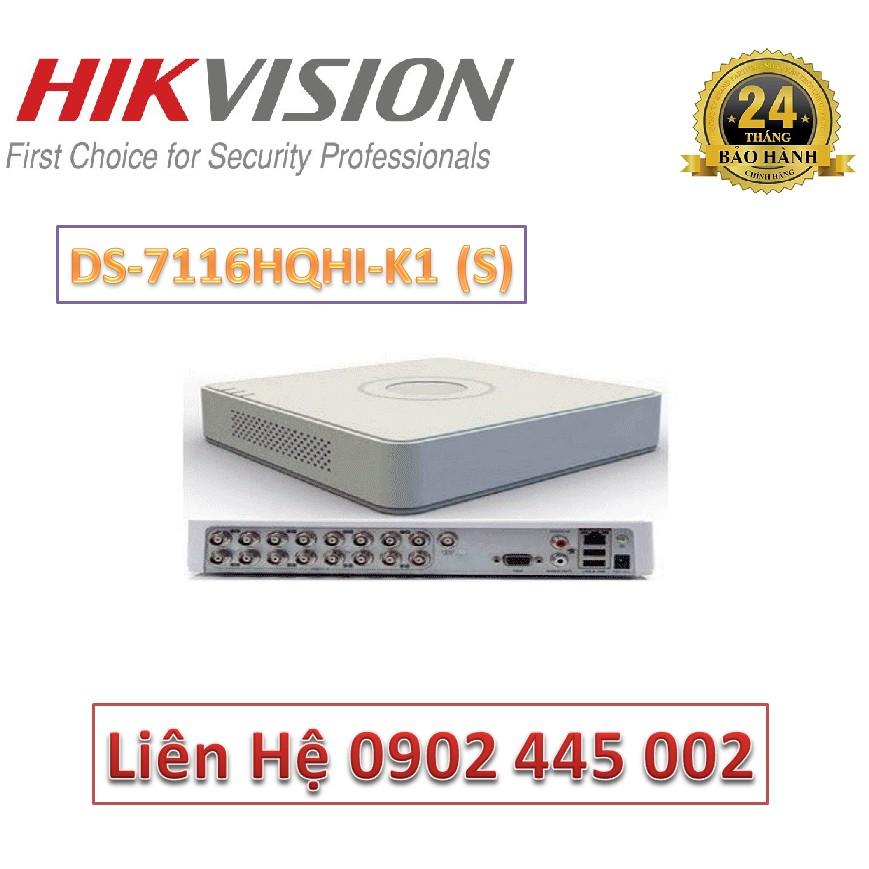 Đầu ghi hình HD-TVI 16 kênh TURBO 4.0 HIKVISION DS-7116HQHI-K1(S)