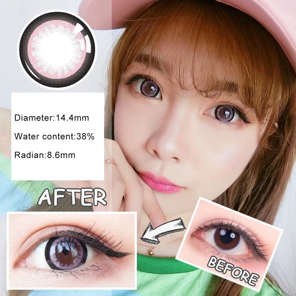 Simrises 1Pc Colored Round Big Eyes Circle Makeup Contact Lense Party Decoration Gift
