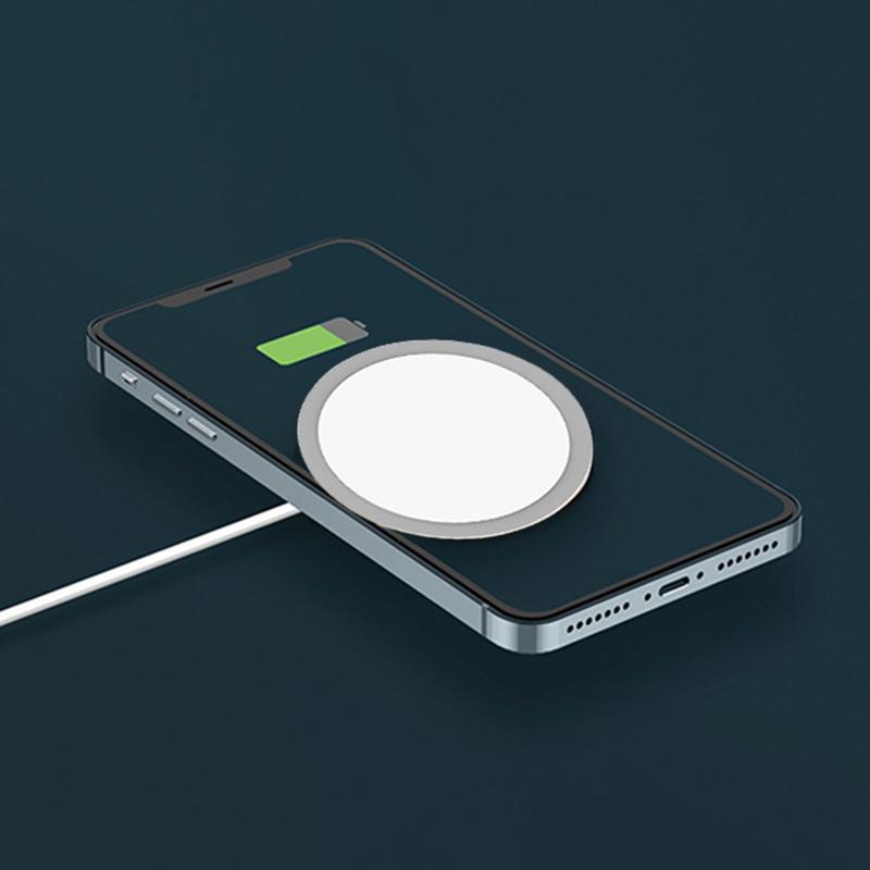 Bộ Sạc Nam Châm Không Dây 15w Loại C Cho Apple Iphone12 / Iphone 12 Pro