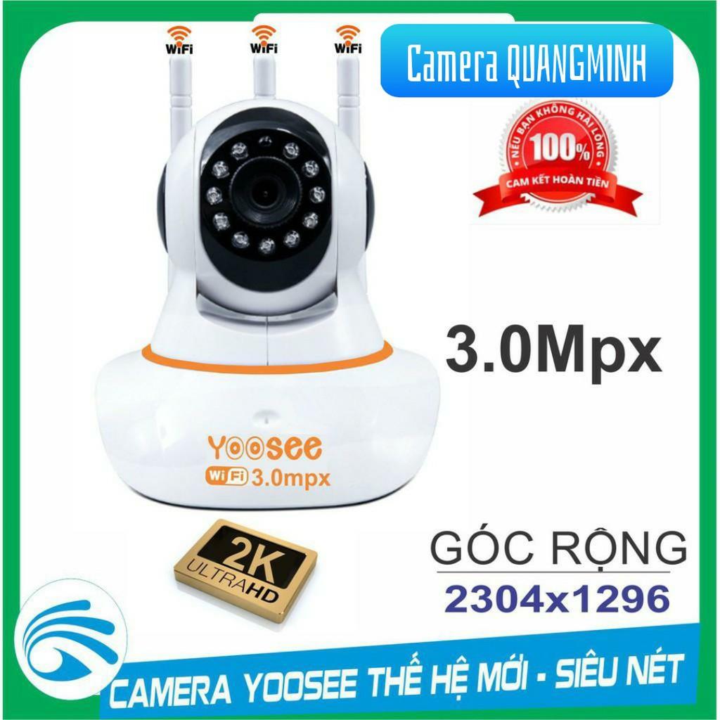 Camera wifi yoosee 3.0 Mpx xoay 360 chính hãng - Kèm Thẻ Nhớ 32gb [Phiên Bản Tiếng Việt]