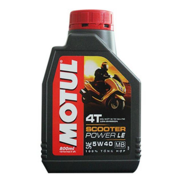 Motul Scooter Power LE 5W40 0.8LLoại: Nhớt xe tay ga