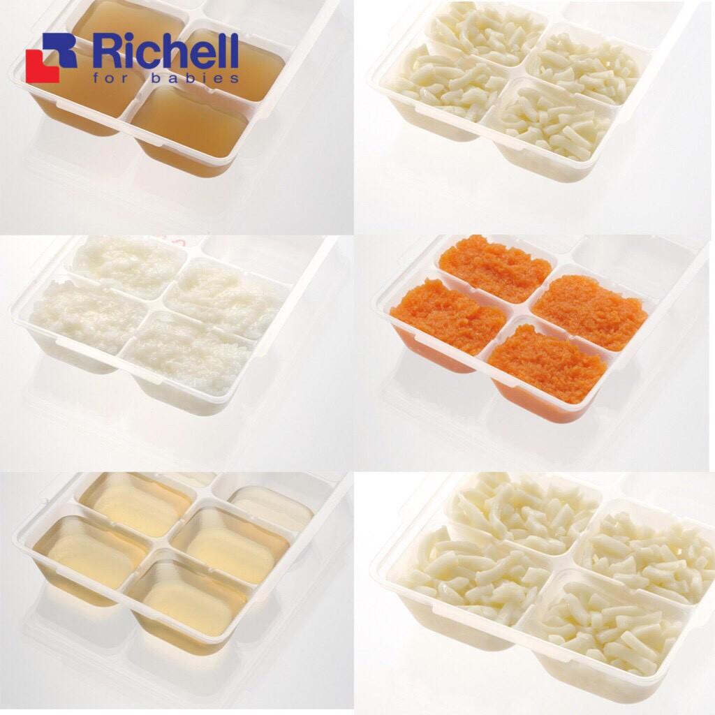 Khay trữ đông đồ ăn dặm cho bé Richell Nhật