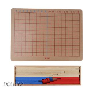 Family Math Board Set Addition & Subtraction Montessori Toy for Kids Toddler