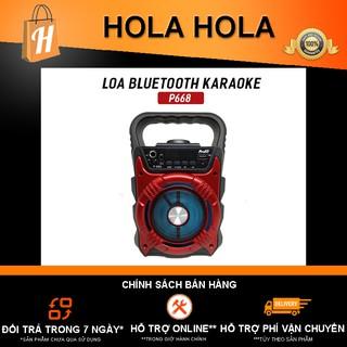 [Mã ELFLASH5 giảm 20K đơn 50K] Loa Bluetooth Karaoke P668 tặng kèm micro Karaoke có dây