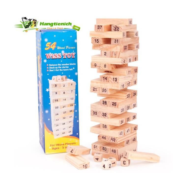 Bộ trò chơi rút gỗ 54 thanh luyện khéo tay cho bé Mbỏ sỉ