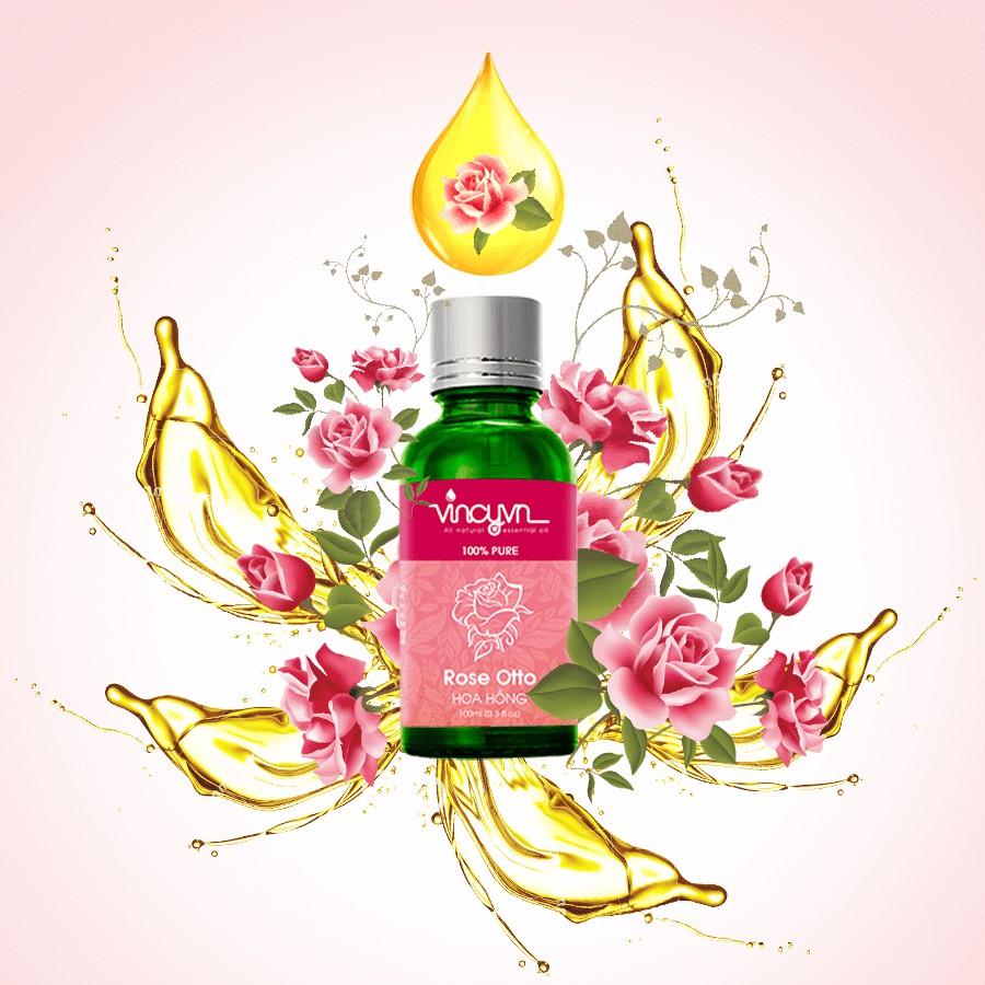 Tinh dầu hoa hồng nguyên chất vincy