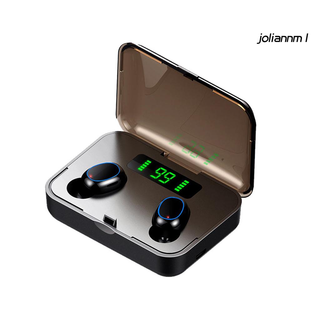 Tai Nghe Nhét Tai Bluetooth 5.0 8d Có Đèn Led Và Phụ Kiện