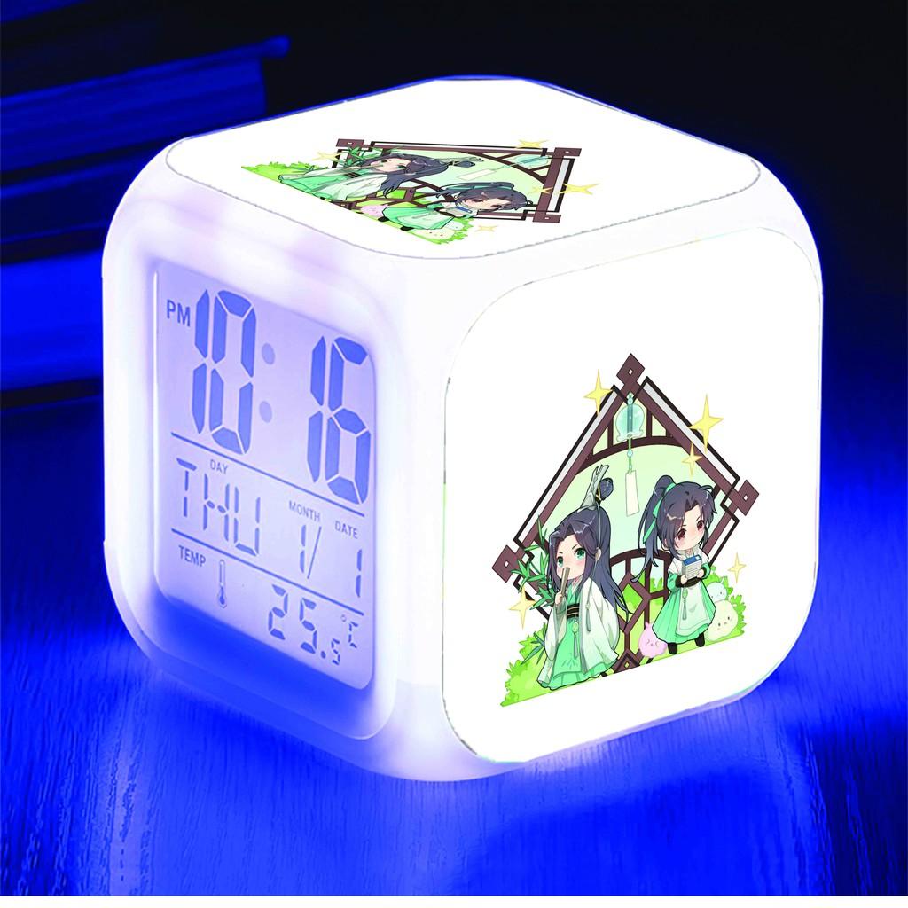 Đồng hồ báo thức để bàn in hình HỆ THỐNG TỰ CỨU CỦA NHÂN VẬT PHẢN DIỆN anime chibi LED đổi màu