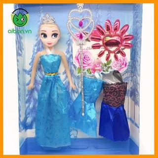Búp Bê Elsa Tặng Váy Và Quyền Trượng (BBYX013)