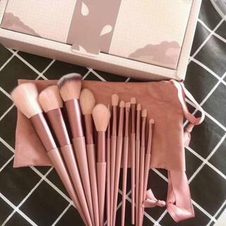 Bộ cọ trang điểm FIX màu hồng đầy đủ có hộp đựng gồm 13 món kèm túi siêu xinh - mâ u mơ i nhâ t.[sẵn hàng] tại Wowshop93 thumbnail