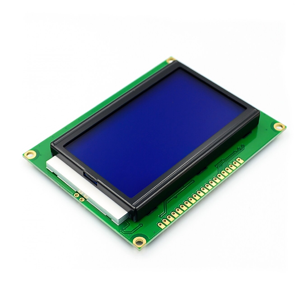 ! 5pcs/lot 128*64 DOTS LCD module 5V blue screen 12864 LCD with backlight ST7920 Parallel port