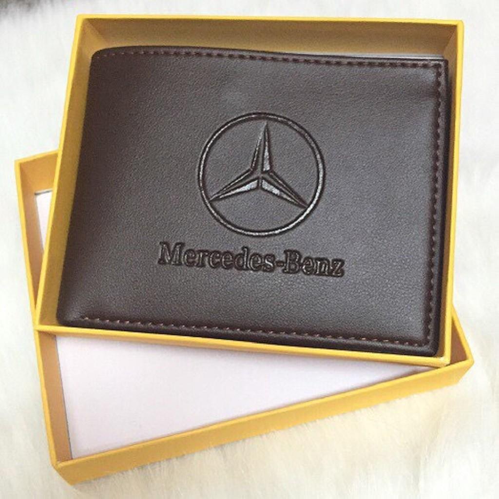 Bóp ví Nam - Ví nam Mercedes-Benz thời trang cao cấp trẻ trung nam tính, Ví da nam chất PU đẹp hàng hiệu Chính Hãng GC06