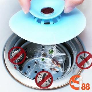 Chuyên Sỉ Chặn Rác Bồn Rửa Bát - Bồn Rửa Mặt - Bật Mở Thông Minh - Ngăn Mùi Bồn Tắm - Nắp Cống GD216 thumbnail