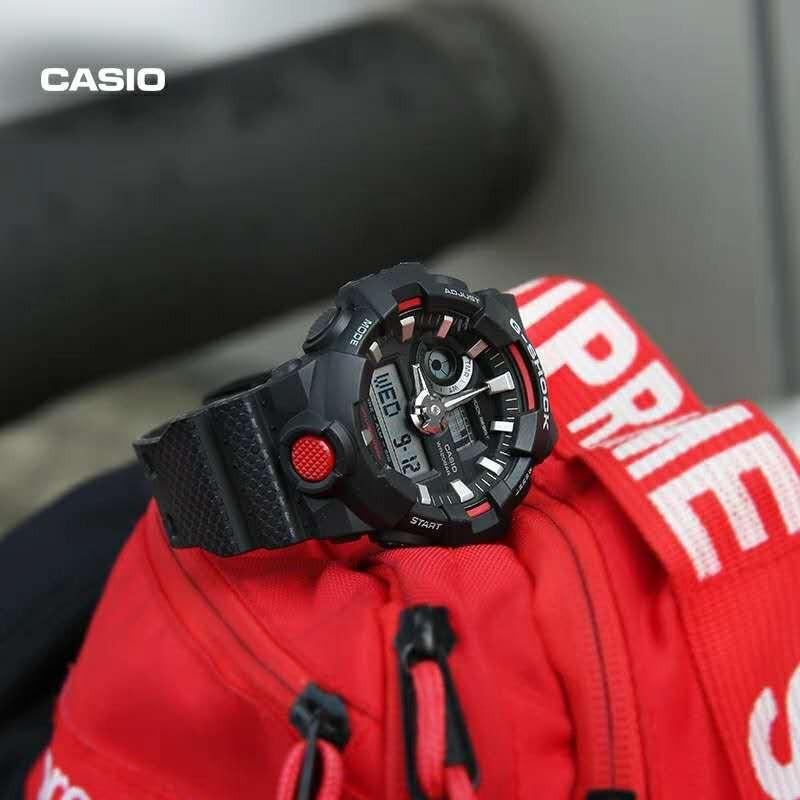 นาฬิกา Casio นาฬิกา Casio นาฬิกาควอทซ์ G-SHOCK GA-700 แฟชั่นกีฬา นาฬิกาโครโนกราฟ