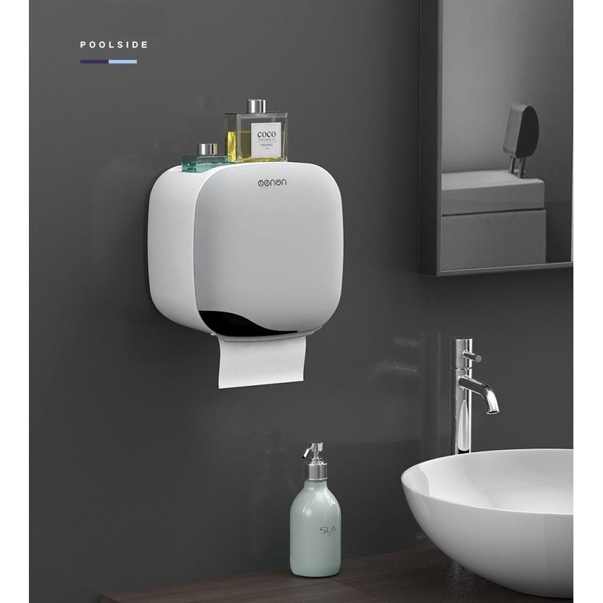 Hộp đựng giấy vệ sinh cao cấp Oenon dán tường siêu chắc chắn