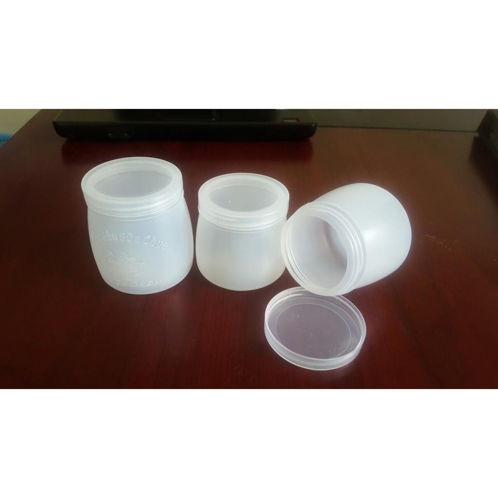 Combo 10 Hộp, Hũ sữa chua 100ml, 120ml, 160ml nhựa dày (kèm nắp)