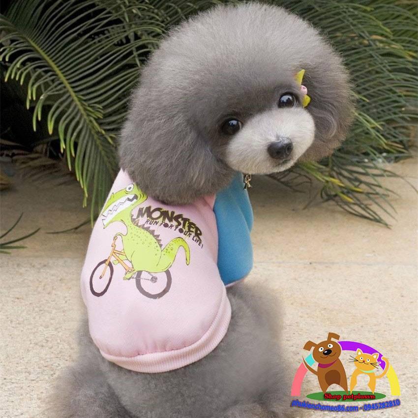 Áo cho chó mèo màu hồng hình khủng long - 3184514 , 638507745 , 322_638507745 , 60000 , Ao-cho-cho-meo-mau-hong-hinh-khung-long-322_638507745 , shopee.vn , Áo cho chó mèo màu hồng hình khủng long